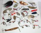 24 Vintage Fishing Spoons-Mepps-Weezel-Les Davis-Pflueger-Blue Fox Vibrax-Airex