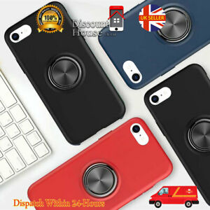 For iPhone 8 | 8Plus TPU Rubber Case Skin Cover With Ring Stand Holder