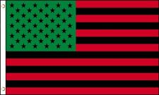 Afro American Flag 3x5 African American Black Lives Matter Us Usa Red Green