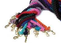 Rhinegold Plain Cotton Lead Rope - Choose colour - 2m Soft Leadrope