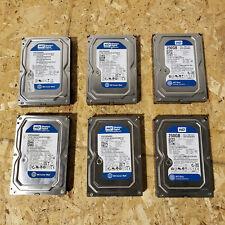 """Lot of 6 Western Digital Caviar Blue WD2500AAKX 250GB 3.5"""" SATA III Desktop HDD"""
