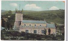 Dorset; Upwey Church Near Weymouth PPC, 1907 Greenwich SOSE PMK