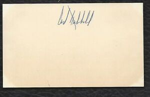 Carl Hubbell Signed 3x5 HOF D 1988 PSA/DNA