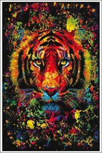 Tiger Schwarzlicht Poster UV Non Flock Blacklight 61 x 91,5 cm