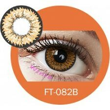 Lentilles de couleur marron 3 tons FT082B - brown color contact lenses