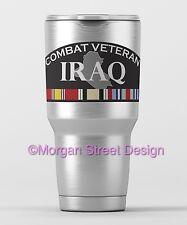 Yeti Iraq War Veteran Die Cut Vinyl Phone Yeti Decal Sticker