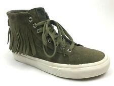 Vans Sk8 Hi Womens Moc Sneakers Native Tassels Suede Leather Shoes Green Sz 7