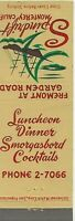 Front Strike Matchcover Spindrift Restaurant Monterey Calif. Surf Phone 2-7066