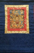 The Life of Buddha Thangka, hand-painted Buddhist painting with wall hanger