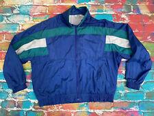 AN99 Vintage 1980's Shell Suit Top Tracksuit Retro Mens XL