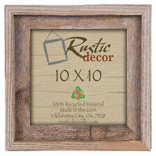 10x10 Picture Frames-Rustic Barnwood Reclaimed Wood Wall Frame-Gray Signature