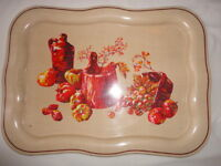 """Metal Tray Serving Vintage 1950's Shabby Chick 18""""x 13"""""""