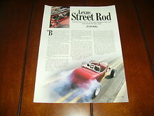 ROD MILLEN LEXUS 430 HP POWERED 1932 FORD HOT ROD  ***ORIGINAL 1999 ARTICLE