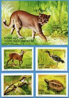Vietnam 2011 Tiere Ba-Be Nationalpark Goldkatze 3574-3578 Block 157 U Imperf MNH