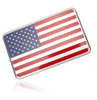 2Pcs 3D USA American Flag Car Decor Metal Sticker Decal Badge Emblem Aluminium