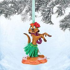 NEW TIMON HULA SKIRT LION KING DISNEY STORE 2014 SKETCHBOOK CHRISTMAS ORNAMENT