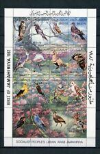 Libyen Kleinbogen MiNr. 1003-18 postfrisch MNH Vögel (Vög5134