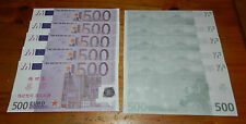 Lot de 10 Billets de 500 EURO - ECHANTILLON TYPE Duisenberg - 2002 - NEUF