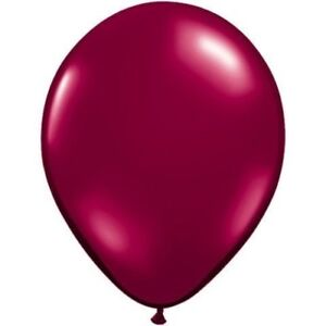 """(10) Quantity Sparkling Burgundy Latex 11"""" Balloon Party Decorating Supplies"""