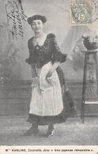 CPA Mme KARLING SOUBRETTE DANS UNE JOYEUSE RENCONTRE (dos non divisé)