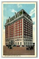 Vintage View of Belvedere Hotel, Baltimore MD c1920 Postcard L18