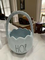 Rae Dunn Hop Blue Easter Basket Ceramic New With Tags