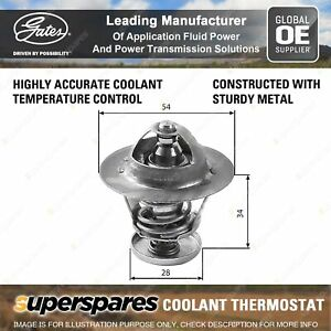 Gates Coolant Thermostat for Toyota 4 Runner LN130 LN61 3L 2.8L 60kW