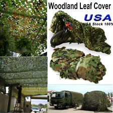 Hunting Camping Military Camouflage Net Woodland Leave Camo Netting Cover 1.5x5M