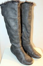 Miss Roberta knee-high grey boots women Eur 38 US-Aus 7 UK 5 Used from Italy
