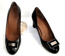 MARC BY MARC JACOBS Escarpins talons 8.5 cm tout cuir noir 37.5 EXCELLENT ETAT
