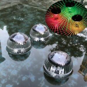 LED Solar Outdoor Floating Lights Garden Pond Pool Color Change Fountain Lamp UK