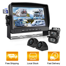 Erapta Backup Camera DVR Wired 7'' Monitor Car Parking Rear Side View Record HD