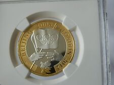 2008 £2 Silver Proof ' Olympic Games Handover Ceremony To London NGC PF 68