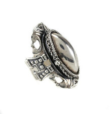 Vintage Sterling Silver Poison Compartment Ring size adjustable currently size 7