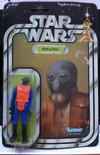 Vintage Star Wars 1977 Walrus Man Moc 21 Back Clear Bubble First 21