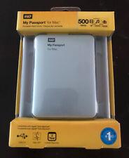 WD My Passport for Mac 500GB Mac Storage External HDD WDBL1D5000ABK-NESN