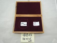 Ornamental Olive Wood Box for 2 Medals 59,35mm, Box Size 110 X 175mm #b03