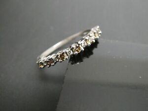 Diamond Gemstone SJCBS Designer Sterling Silver 925 Engagement Ring Size 8.5