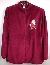 Grumpy Dwarf Disney Store Plush Fleece Sweater Jacket Full Zipper XL