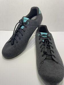 Men's Size 8.5 Shimano SH-RT400-W Gray Teal Versatile Cycling Shoe