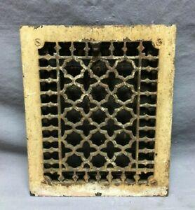 Antique Gothic VTG Cast Iron Heat Wall Register 8x10 Decorative Old 640-21B