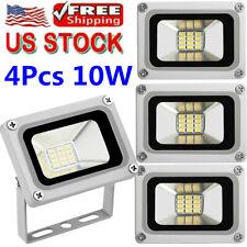 4pcs 10W 12V LED Outdoor Waterproof Flood Light Garden Lamp Cool White Spotlight