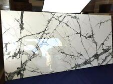 HD Ultra gloss 60x120cm dramatic crash white veined porcelain tiles 8 pieces