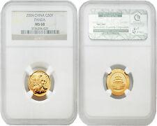 China 2004 Panda 50 Yuan 1/10 oz Gold NGC MS68