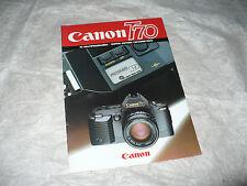 FOTOGRAFIA BROCHURE CANON T70 AE MULTIPROGRAMMA DOPPIO SISTEMA ESPOSIMETRICO '84