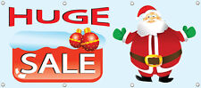 "HUGE SALE BANNER, RETAIL STORE HOLIDAY SALE SIGNS 96"" X 36"" MULTI COLOR"