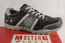 Mustang Men's Lace Up Sneakers Trainers Low Shoe 4027 Stone/Grey New