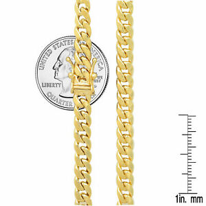"""14k Yellow Gold 5.3mm-7.3mm Miami Cuban Link Chain Necklace Sz 18""""-30"""""""