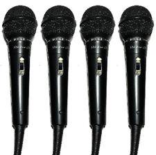 (4) DJ Karaoke PA Computer Podcast Mic MICROPHONE Extra Plug Adapter Table Stand