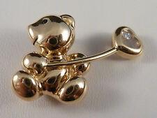 Reinheit IF Echtschmuck-Halsketten & -Anhänger aus Gelbgold mit Brilliantschliff für Damen